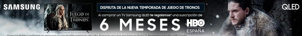 COMPRA UNA TV SAMSUNG QLED ¡Y LLÉVATE 6 MESES DE HBO GRATIS!