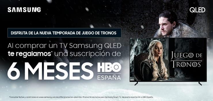 Compra una TV Samsung QLED y llévate gratis 6 meses gratis HBO