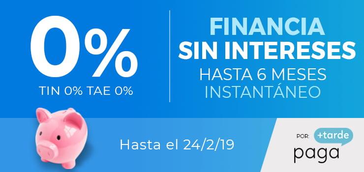 FINANCIACIÓN 6 MESES AL 0%